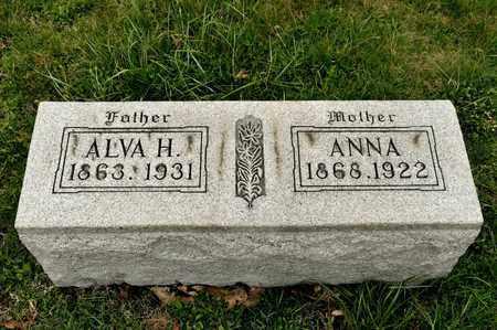 ANDERSON, ALVA H - Richland County, Ohio | ALVA H ANDERSON - Ohio Gravestone Photos