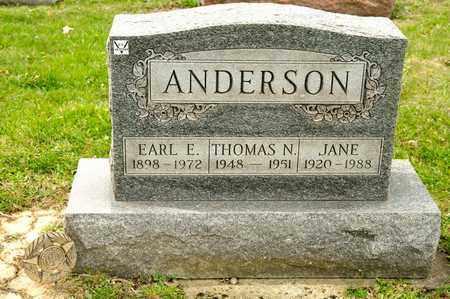 ANDERSON, EARL E - Richland County, Ohio | EARL E ANDERSON - Ohio Gravestone Photos