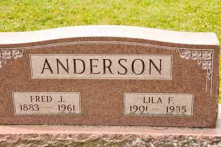 ANDERSON, FRED J - Richland County, Ohio | FRED J ANDERSON - Ohio Gravestone Photos