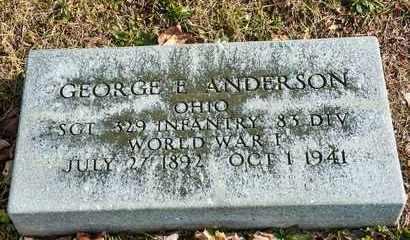 ANDERSON, GEORGE E - Richland County, Ohio | GEORGE E ANDERSON - Ohio Gravestone Photos