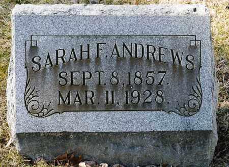 ANDREWS, SARAH F - Richland County, Ohio   SARAH F ANDREWS - Ohio Gravestone Photos