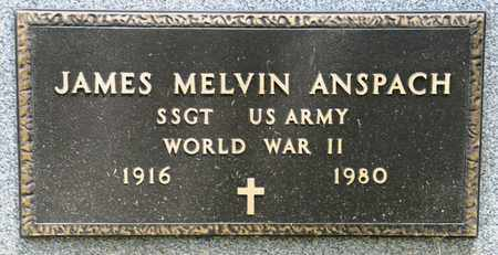 ANSPACH, JAMES MELVIN - Richland County, Ohio | JAMES MELVIN ANSPACH - Ohio Gravestone Photos