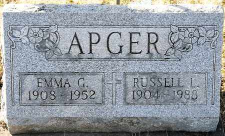 APGER, RUSSELL L - Richland County, Ohio | RUSSELL L APGER - Ohio Gravestone Photos