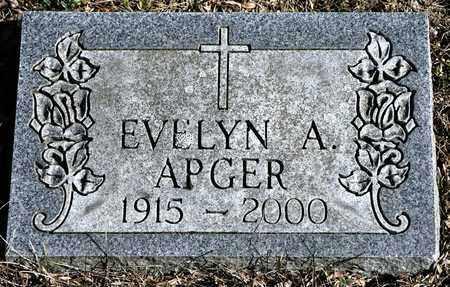 APGER, EVELYN A - Richland County, Ohio   EVELYN A APGER - Ohio Gravestone Photos