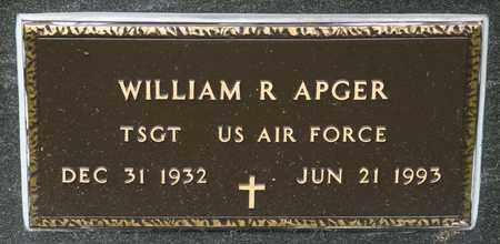 APGER, WILLIAM R - Richland County, Ohio | WILLIAM R APGER - Ohio Gravestone Photos