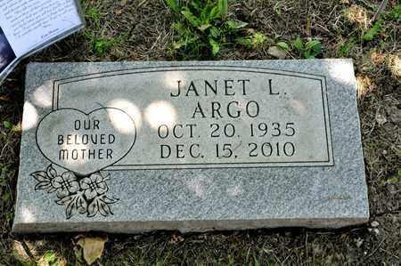 ARGO, JANET L - Richland County, Ohio | JANET L ARGO - Ohio Gravestone Photos