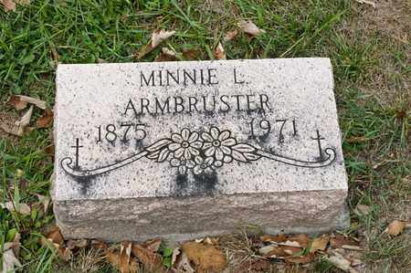 ARMBRUSTER, MINNIE L - Richland County, Ohio | MINNIE L ARMBRUSTER - Ohio Gravestone Photos