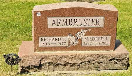 ARMBRUSTER, RICHARD E - Richland County, Ohio | RICHARD E ARMBRUSTER - Ohio Gravestone Photos