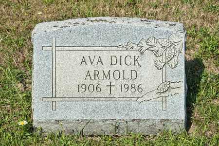 DICK ARMOLD, AVA - Richland County, Ohio | AVA DICK ARMOLD - Ohio Gravestone Photos