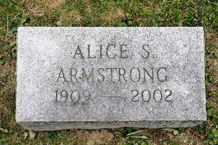 ARMSTRONG, ALICE S - Richland County, Ohio | ALICE S ARMSTRONG - Ohio Gravestone Photos