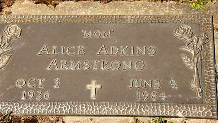 ADKINS ARMSTRONG, ALICE - Richland County, Ohio | ALICE ADKINS ARMSTRONG - Ohio Gravestone Photos