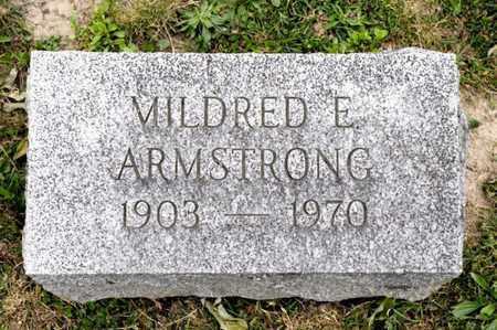 ARMSTRONG, MILDRED E - Richland County, Ohio   MILDRED E ARMSTRONG - Ohio Gravestone Photos