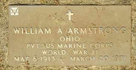 ARMSTRONG, WILLIAM A - Richland County, Ohio | WILLIAM A ARMSTRONG - Ohio Gravestone Photos