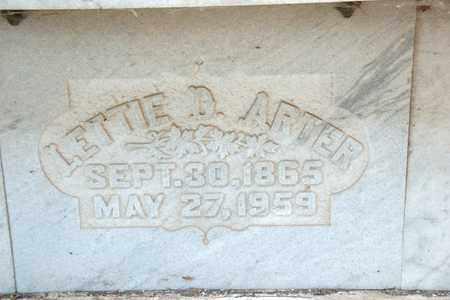 ARTER, LETTIE D - Richland County, Ohio | LETTIE D ARTER - Ohio Gravestone Photos