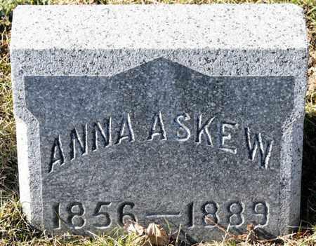ASKEW, ANNA - Richland County, Ohio | ANNA ASKEW - Ohio Gravestone Photos