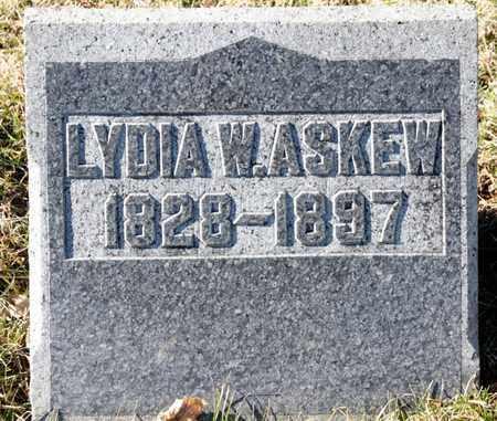 ASKEW, LYDIA W - Richland County, Ohio | LYDIA W ASKEW - Ohio Gravestone Photos