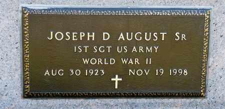 AUGUST SR, JOSEPH D - Richland County, Ohio | JOSEPH D AUGUST SR - Ohio Gravestone Photos