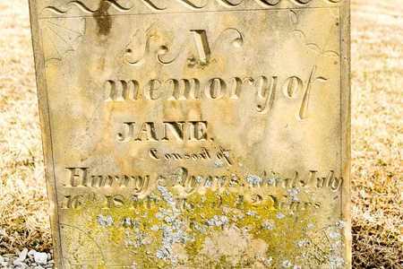 AYRES, JANE - Richland County, Ohio   JANE AYRES - Ohio Gravestone Photos