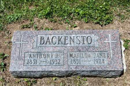 ELLER BACKENSTO, MATILDA JANE - Richland County, Ohio   MATILDA JANE ELLER BACKENSTO - Ohio Gravestone Photos