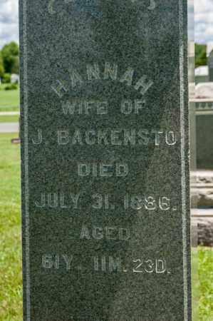 FOX BACKENSTO, HANNAH - Richland County, Ohio | HANNAH FOX BACKENSTO - Ohio Gravestone Photos
