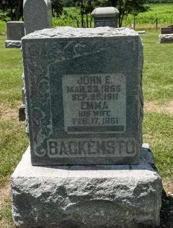 BACKENSTO, EMMA - Richland County, Ohio | EMMA BACKENSTO - Ohio Gravestone Photos