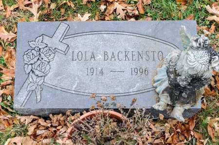 BACKENSTO, LOLA - Richland County, Ohio | LOLA BACKENSTO - Ohio Gravestone Photos