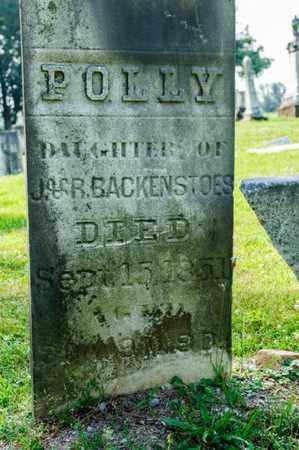BACKENSTOES, POLLY - Richland County, Ohio | POLLY BACKENSTOES - Ohio Gravestone Photos