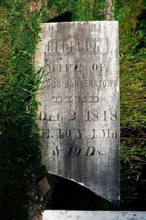 BACKENSTOWS, REBECCA - Richland County, Ohio | REBECCA BACKENSTOWS - Ohio Gravestone Photos