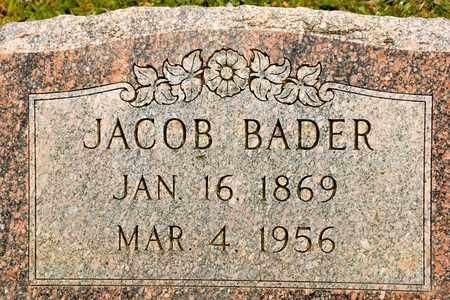 BADER, JACOB - Richland County, Ohio | JACOB BADER - Ohio Gravestone Photos
