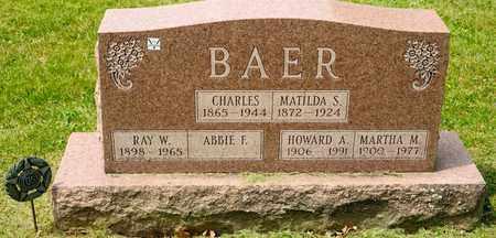 BAER, MATILDA S - Richland County, Ohio | MATILDA S BAER - Ohio Gravestone Photos