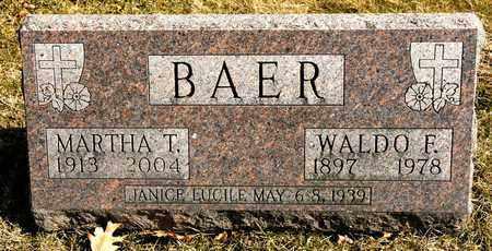 BAER, WALDO F - Richland County, Ohio | WALDO F BAER - Ohio Gravestone Photos