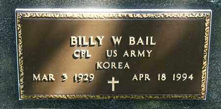 BAIL, BILLY W - Richland County, Ohio | BILLY W BAIL - Ohio Gravestone Photos