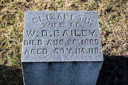 BAILEY, ELIZABETH - Richland County, Ohio | ELIZABETH BAILEY - Ohio Gravestone Photos