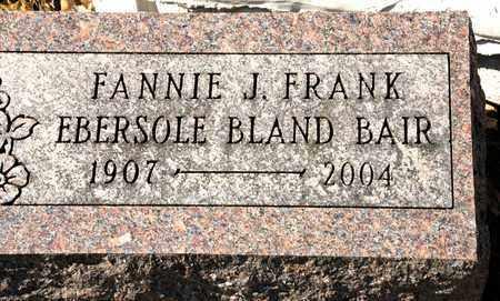 BAIR, FANNIE J - Richland County, Ohio   FANNIE J BAIR - Ohio Gravestone Photos