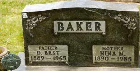 BAKER, D BEST - Richland County, Ohio   D BEST BAKER - Ohio Gravestone Photos