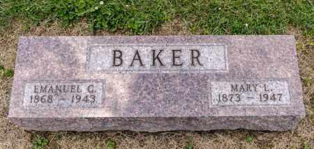 BAKER, EMANUEL G - Richland County, Ohio | EMANUEL G BAKER - Ohio Gravestone Photos