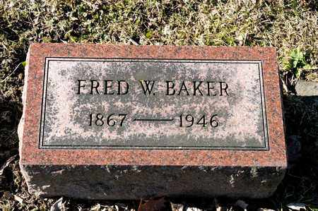 BAKER, FRED W - Richland County, Ohio | FRED W BAKER - Ohio Gravestone Photos
