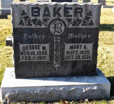 BAKER, MARY A - Richland County, Ohio   MARY A BAKER - Ohio Gravestone Photos