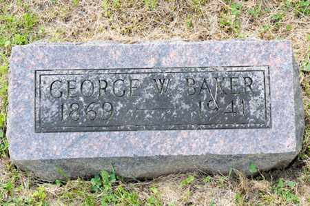BAKER, GEORGE W - Richland County, Ohio   GEORGE W BAKER - Ohio Gravestone Photos