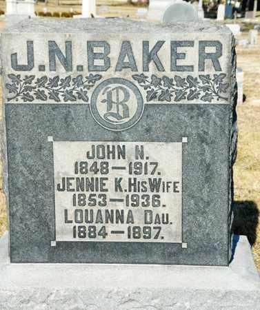 BAKER, JOHN N - Richland County, Ohio | JOHN N BAKER - Ohio Gravestone Photos