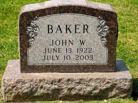 BAKER, JOHN W - Richland County, Ohio | JOHN W BAKER - Ohio Gravestone Photos