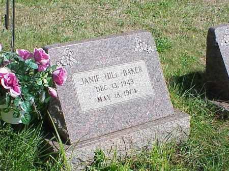 BAKER, JANIE HILL - Richland County, Ohio | JANIE HILL BAKER - Ohio Gravestone Photos