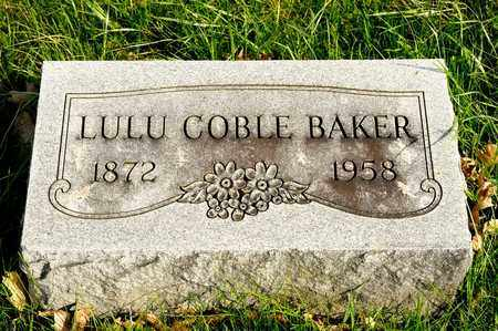 COBLE BAKER, LULU - Richland County, Ohio | LULU COBLE BAKER - Ohio Gravestone Photos