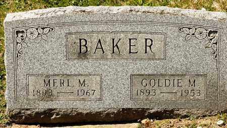 BAKER, MERL M - Richland County, Ohio | MERL M BAKER - Ohio Gravestone Photos