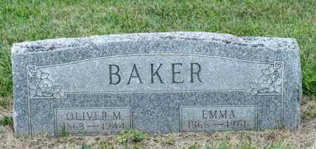 BAKER, OLIVER M - Richland County, Ohio | OLIVER M BAKER - Ohio Gravestone Photos