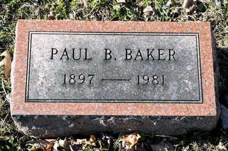 BAKER, PAUL B - Richland County, Ohio | PAUL B BAKER - Ohio Gravestone Photos