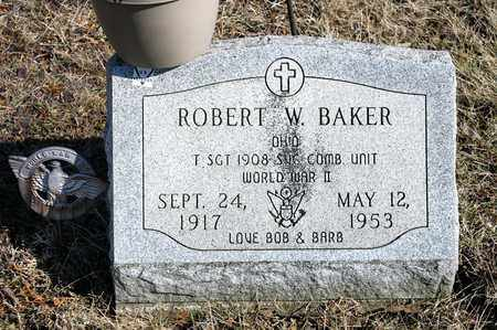 BAKER, ROBERT W - Richland County, Ohio   ROBERT W BAKER - Ohio Gravestone Photos