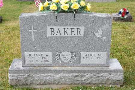 BAKER, RICHARD W - Richland County, Ohio | RICHARD W BAKER - Ohio Gravestone Photos