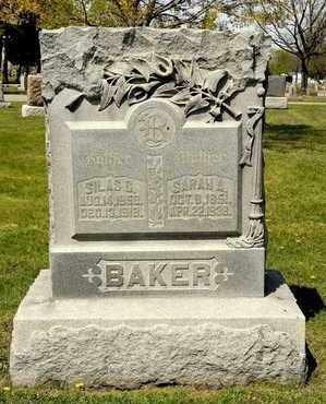 BAKER, SARAH A - Richland County, Ohio | SARAH A BAKER - Ohio Gravestone Photos