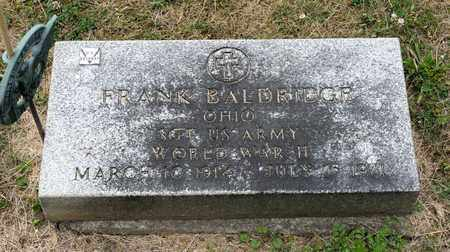 BALDRIDGE, FRANK - Richland County, Ohio | FRANK BALDRIDGE - Ohio Gravestone Photos